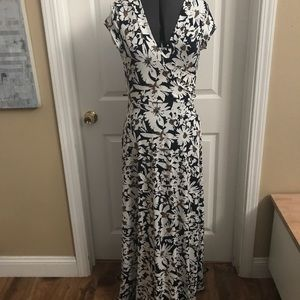 Olivia Matthews sz M faux wrap floor length dress